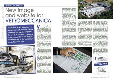 """Vetromeccanica presenta la sua nuova brand image e il nuovo sito sulla rivista """"Glass Machinery & Plants"""""""